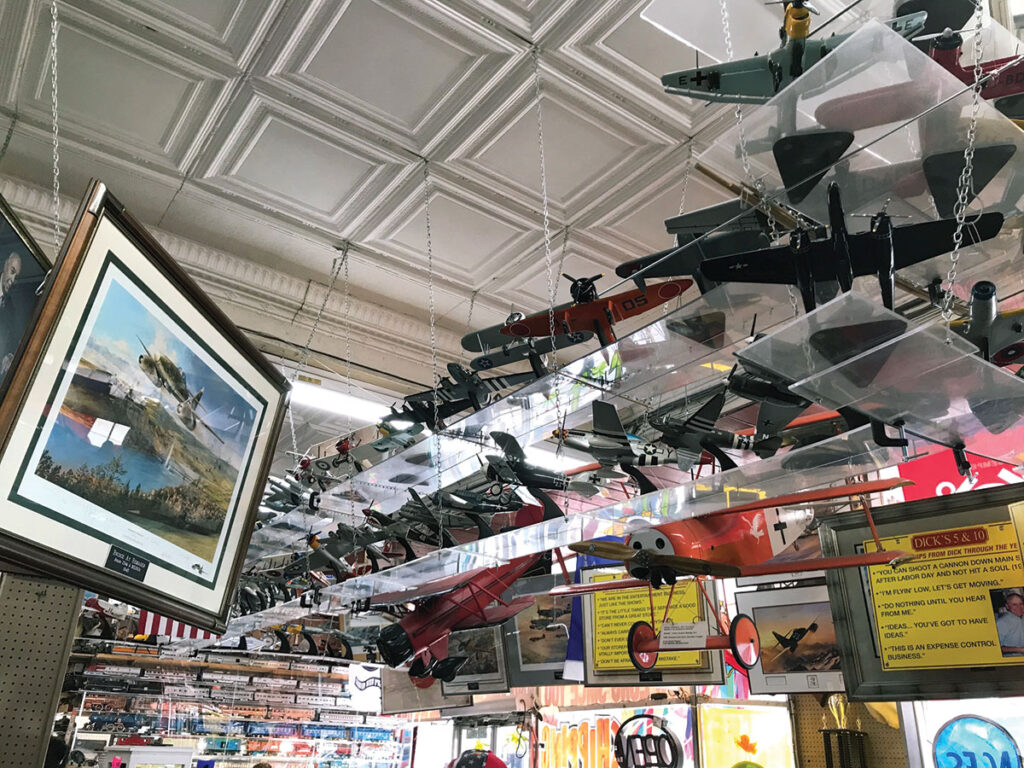 Airplane collection at Dick's 5 & 10 store in Branson, Missouri. Photo by Kevin Thomas.