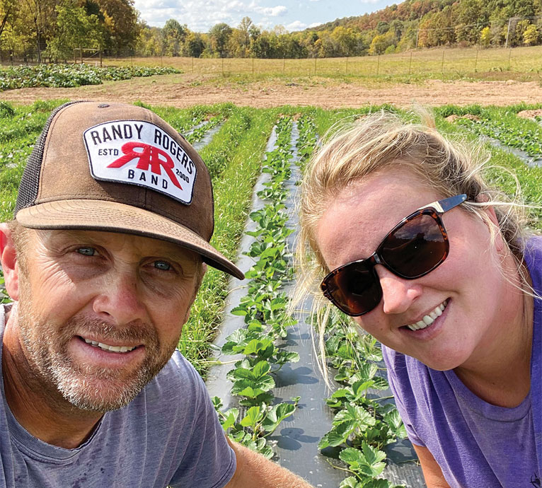 Jeremy and Kelly West at their farm, Whitewater Hollow Farms, in Grove, Oklahoma. Submitted Photo.