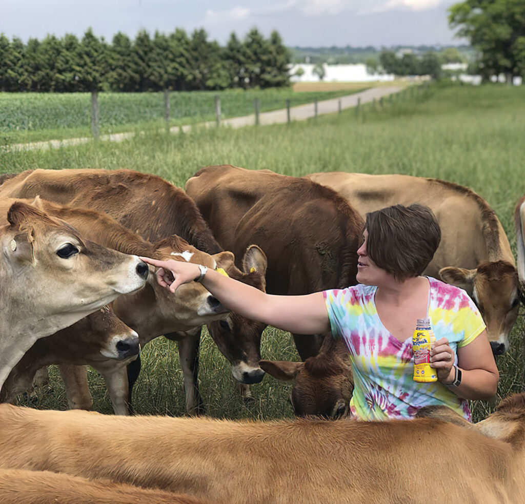 Reagan Bluel with her cattle. Submitted Photo.