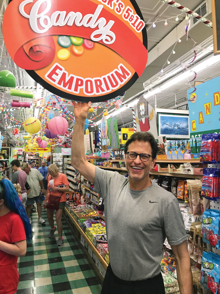 Dick's 5 & 10 is celebrating 60 years in Branson, Mo., this month. Co-owner Steve Hartley (pictured above), son of the store's founder, said the Candy Emporium is his favorite spot in the store. Photo by Kevin Thomas.
