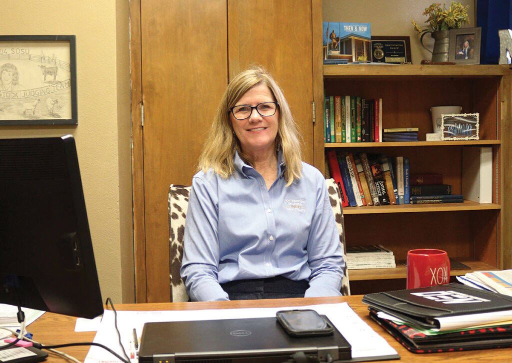 Dr. Mary Booth has degrees in animal science/swine nutrition from South Dakota State University. She has been the Northeastern Oklahoma A&M Agriculture Department Chair since 2019. She also teaches a variety of classes, including animal science, livestock business management and livestock feeding. Submitted Photo.