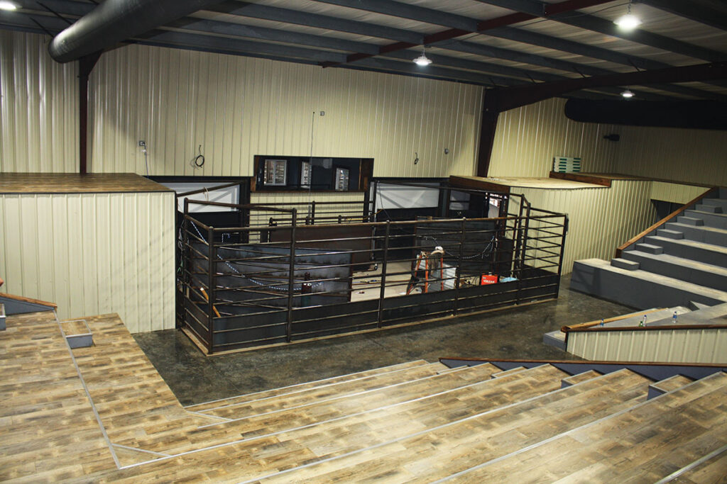 Inside the new Wright County Sale Barn in Mountain Grove, Missouri. Photo by Julie-Turner Crawford.