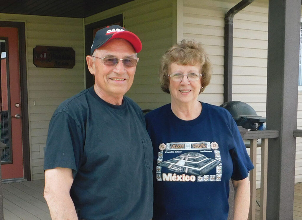 Jim and Ronda Hardin at their home in Nevada, Missouri. Photo by Neoma Foreman.