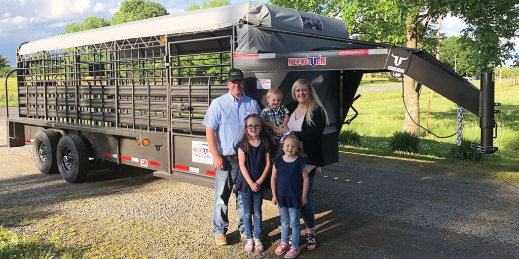 Matt and Kortney McMahan of McMahan Enterprises pictured with their children Karley, Kinley and Koal. Submitted Photo.