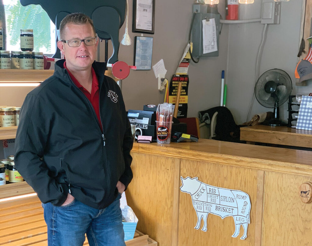 The K&D Cattle Company store  continues to expand and diversify. Pictured is K&D Cattle Company  owner Dan Thornburg. Photo by Rachel Harper.
