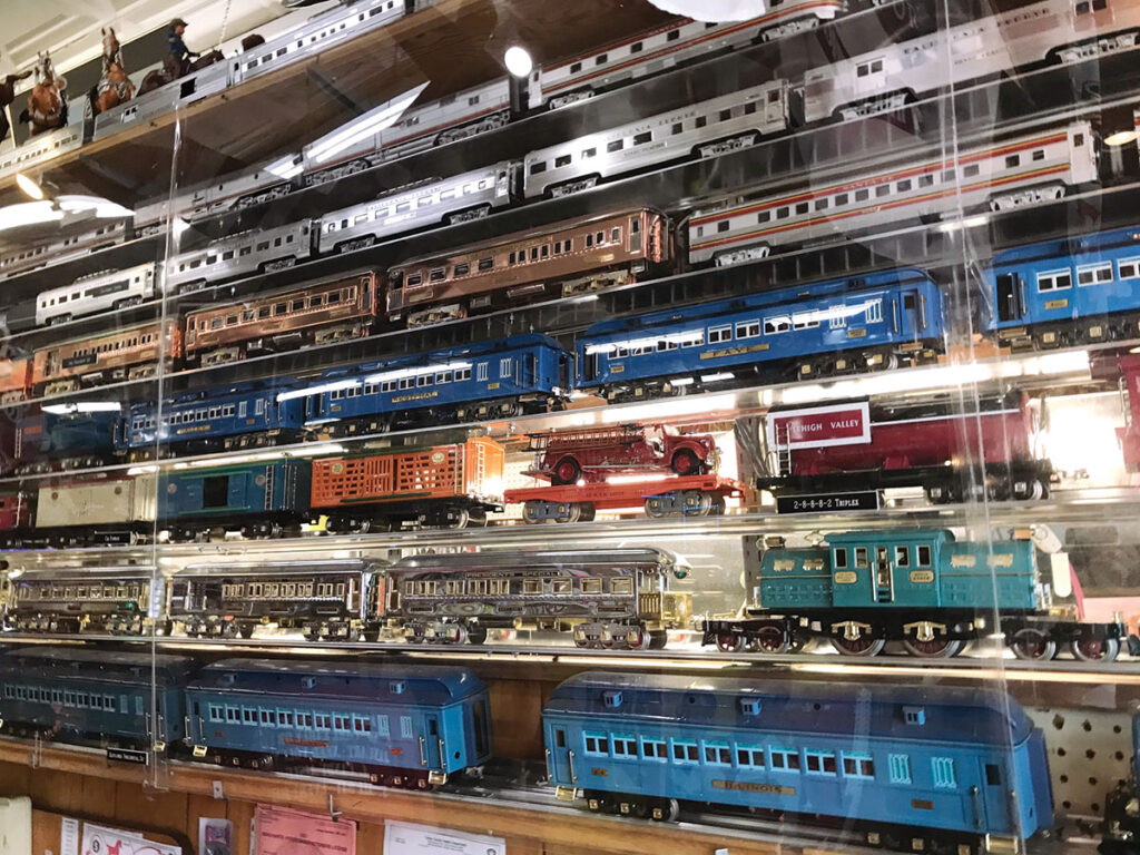 Train Collection at Dick's 5 & 10 store in Branson, Missouri. Photo by Kevin Thomas.