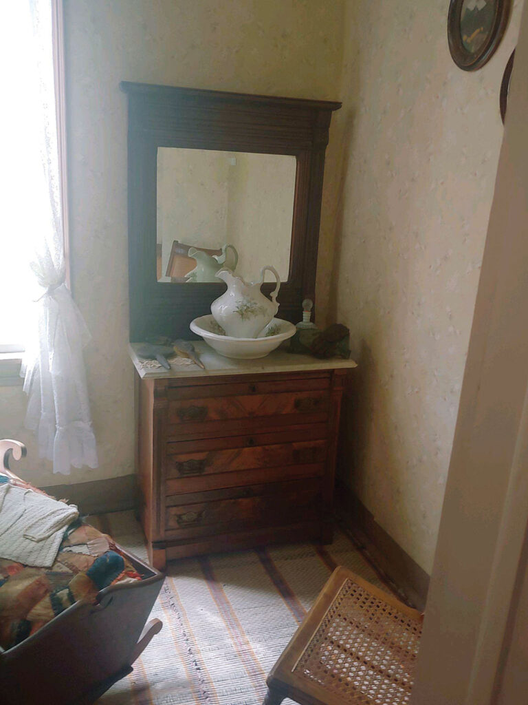 Dresser with wash basin. Submitted Photo.