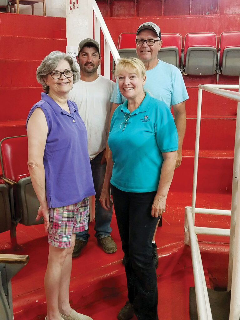 Ruth Jones and her crew are working to expand numbers at Farmers Regional. Pictured, from left, are office manager Rita Blair, barn manager Kevin Lynch, Ruth Jones and field rep David Jones. Submitted Photo.
