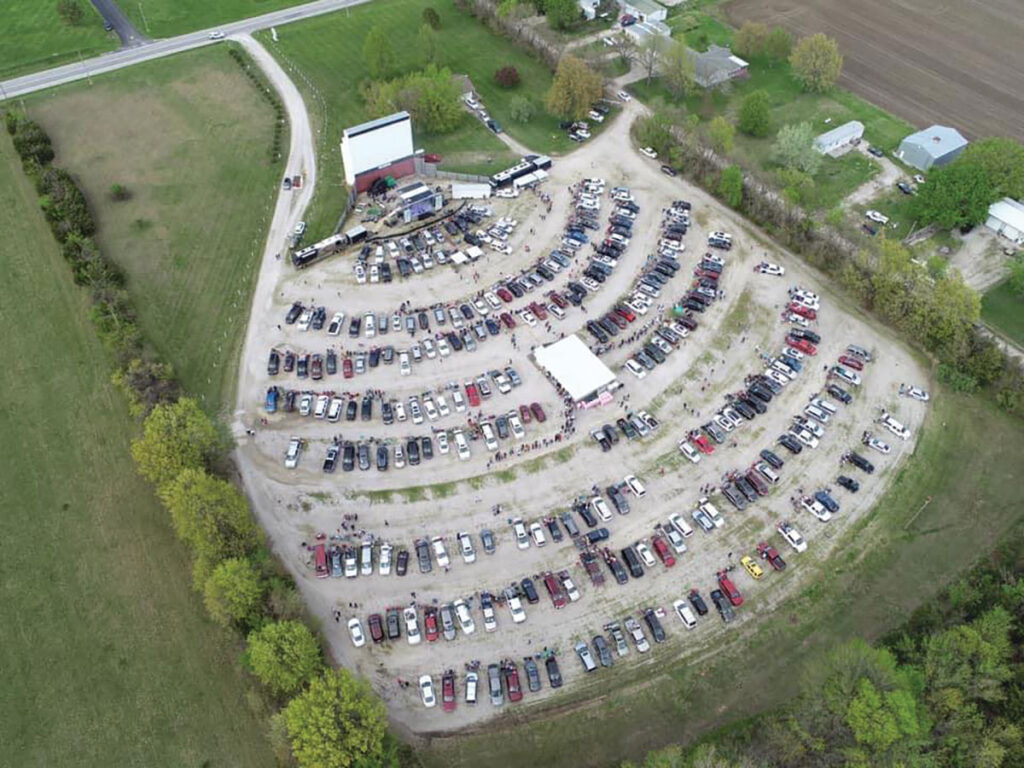 Aerial View of Barco Drive-In Theatre. Submitted Photo.