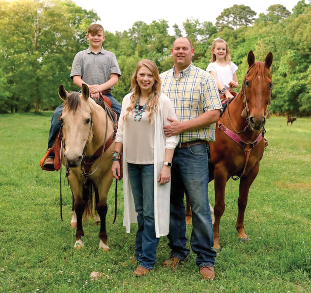 Nate and Susie Niehus along with their children Naaman and Natalie, run the the 250-acre Niehus Ranch. Submitted Photo.