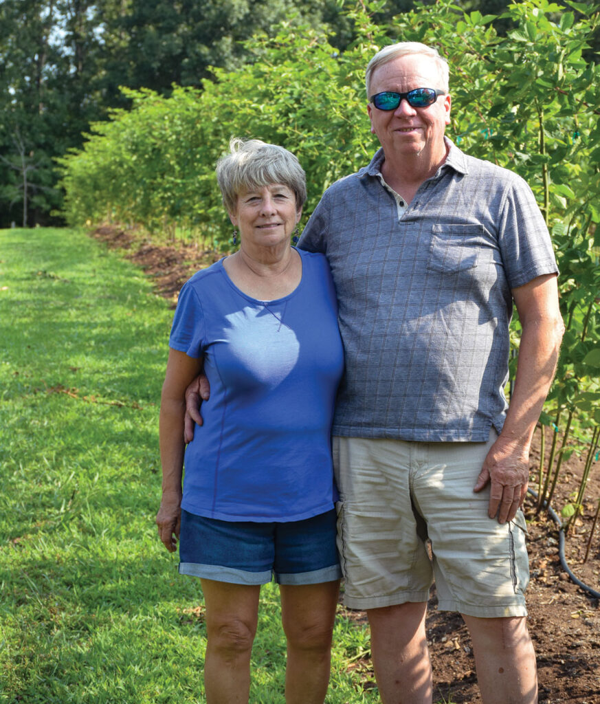 Alan and Lil Collins, owners of Ozark Berry Farm in Leasburg, Missouri. Photo by Jessica Wilson.