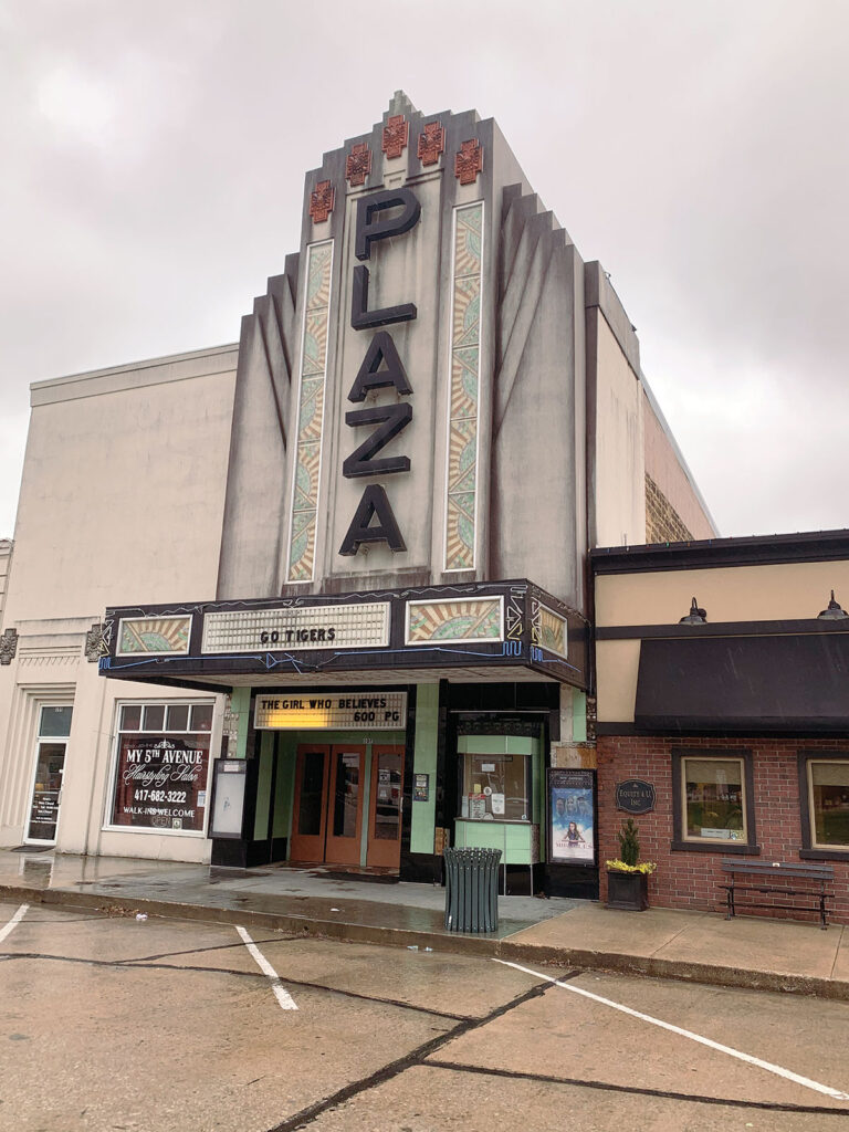 Outside the Plaza Theater in Lamar Missouri. Submitted Photo.