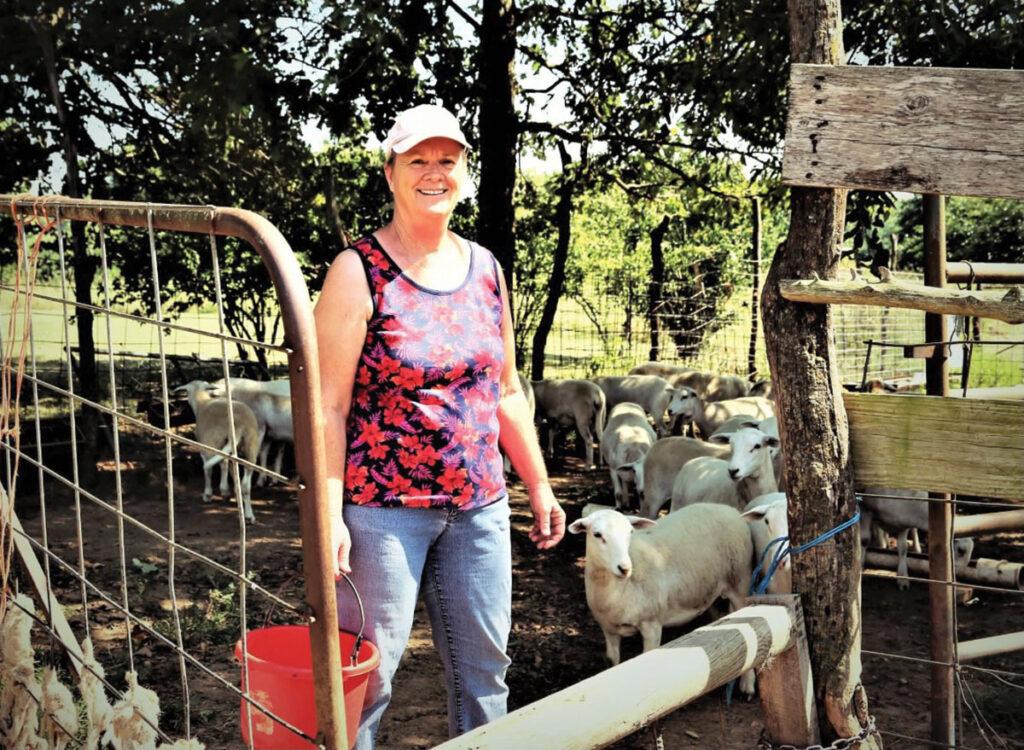 Sharon Corum says her Katahdin sheep are primarily raised on pasture.  Photo by Jaynie Kinnie-Hout