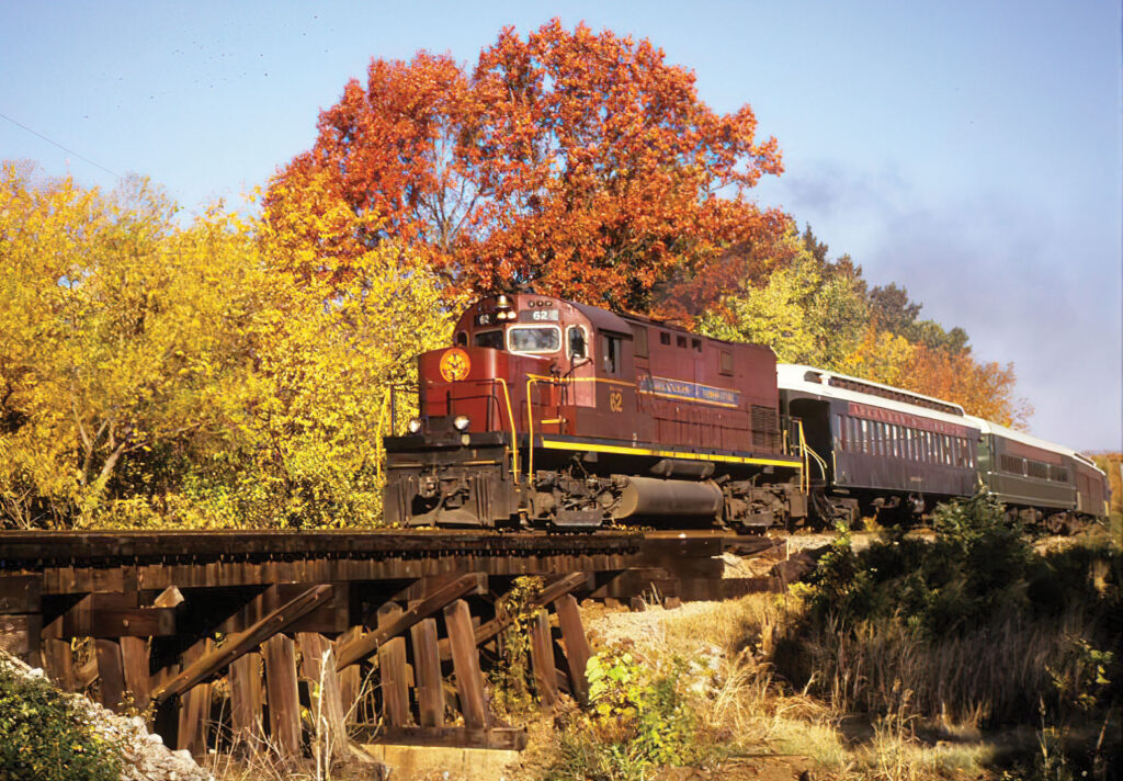 The Arkansas & Missouri Privately-owned railroad gives passengers a unique look at the Ozarks. Submitted Photo.