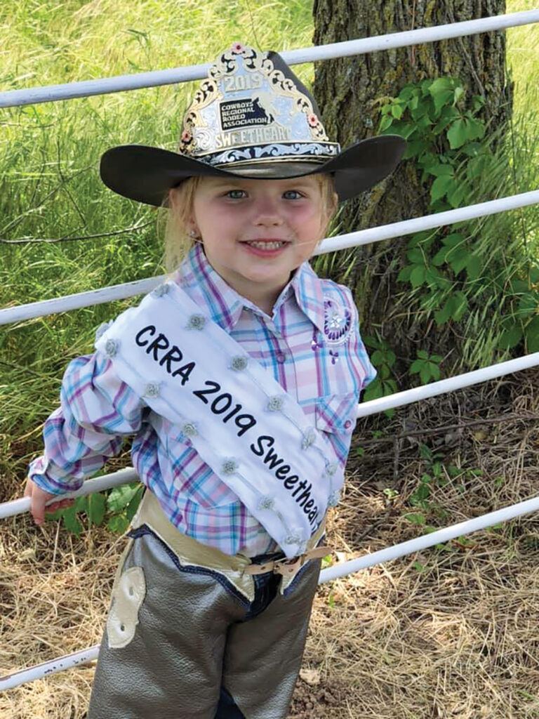 Kambryia Makynlee Alana Qualls was the 2019 Miss Cowboy Regional Rodeo Association Sweetheart. Submitted Photo.