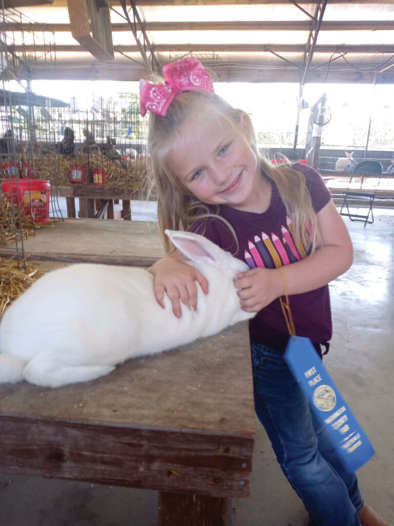 Kambryia Makynlee Alana Qualls, age 5, of Hindsville, Arkansas. She is a member of the Goin' Showin' 4-H Club. Submitted Photo.
